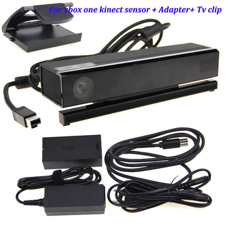 New For Xbox One S kinect Sensor with USB Kinect Adapter 2.0 3.0 For Xbox One Slim for Windows PC kinect adapter +TV Clip