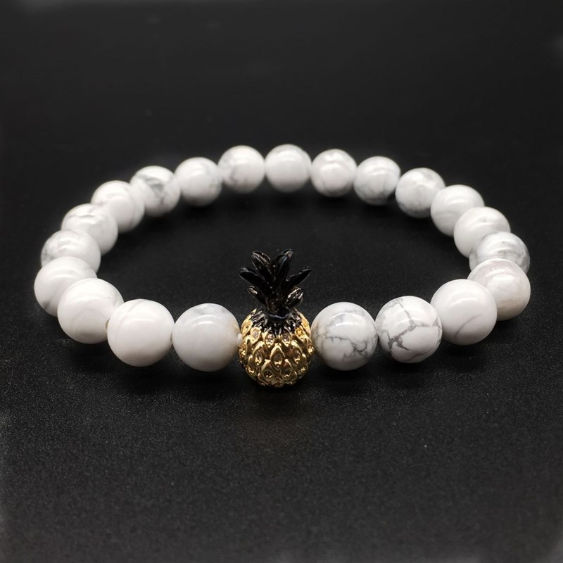 Newest Charm Couples Bracelet Classic Natural Stone White Black Yin Yang Beaded Bracelets Bangles Men Women Jewelry Pulseras