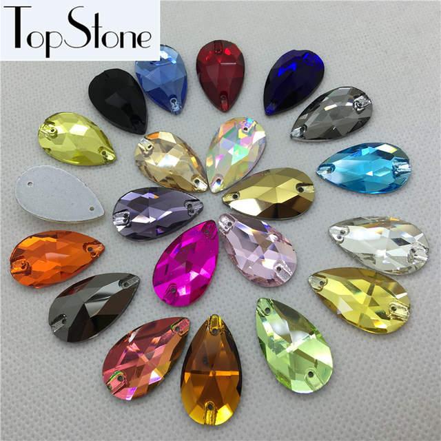 Online Shop Teardrop Glass Crystal Sew on Rhinestone 7x12 3a56a494805e
