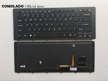 US English Backlit Keyboard for SONY VPC SVF15N SVF 15N SVF15N18SCB black Laptop Keyboard US Layout недорго, оригинальная цена