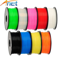 2roll Lot 1kg Roll Anet 1 75mm ABS Filament 3D Printer Filament Plastic Rubber Consumables Material