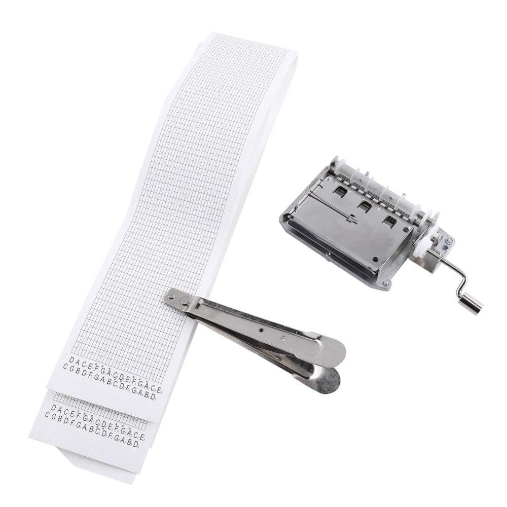 30 Note лент ручная рукоятка музыкальная Механическая Музыкальная шкатулка с дырокол 3 полосы ленты создать свою собственную музыку Diy музыкал