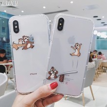 Funda de teléfono transparente con Chip Dale ardilla para iphone 11 Pro 7 8 6 s plus X XS Max Xr(China)