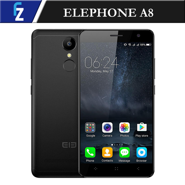 "ELEPHONE A8 MTK6580 Quad-core Smartphone 5.0"" Android 7.0 3G WCDMA Phone 1GB RAM 8GB ROM 1800mAh 8.0MP Camera Fingerprint"