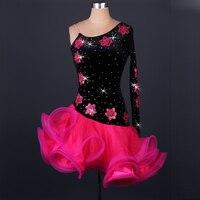 Latin dance clothing imported high grade diamond velvet dress and adult Latin dance costumes NEW