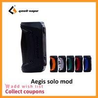 Оригинал GeekVape Aegis Solo mod 100 Вт Vape mod на 18650 батарея для Tengu RDA электронная сигарета Fit 510 электронная сигарета коробка мод