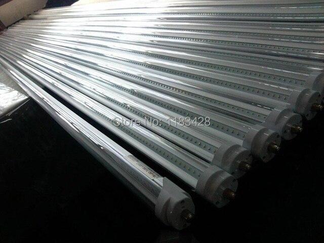 X15pcs HOT SALL 2400mm 192LED Tube light FA8 single pin T8 SMD 2835 LED fluorescent tube 8ft 4000LM Free shipping