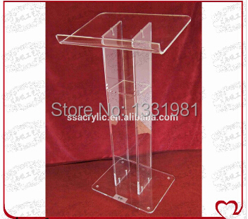 Hot Selling Acrylic Lectern / Church Lecterns/ Modern Plexiglass Lecterns With Logo Printing