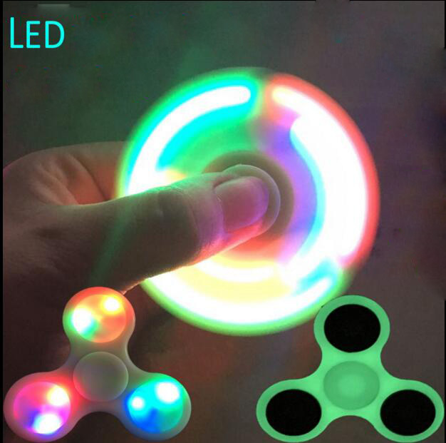 Hand Fidget Spinner Glow In The Dark Led Lightning Luminuex Finger Spiners Blue Yellow Red Glowing