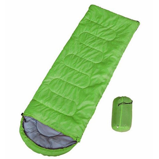 Campin Sleeping Bag 220 *75 Cm Cold proof Sleeping Bags Waterproof  Envelope Sleeping Bag Mat Outdoor Ultralight Thickened Mat