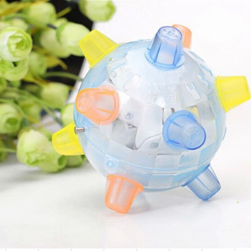 Pet Dogs Educational Developmental Shiny Ball Toy Bite-resistant Molar Chew Toy for Exercising and Solving Boredom 1