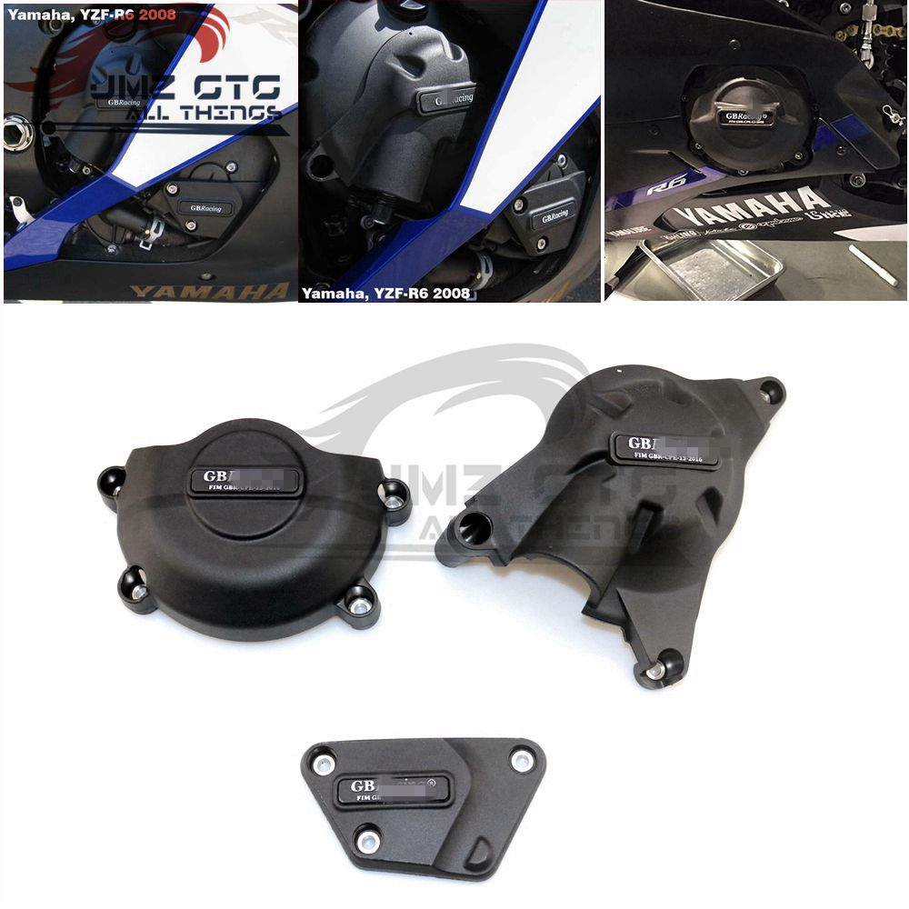 Motorcycles Engine Cover Protection Case For Case GB Racing For YAMAHA R6 2006 07 08 09 10 11 12 13 14 15 16 17-18-2019