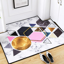 Nordic INS multicolor geometry large carpet home bedroom bedside entrance elevator floor mat sofa coffee table anti slip
