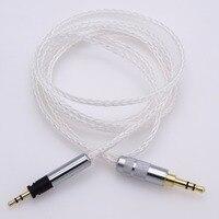 1.2M 8 cores Hi end 5N OCC Litz braid Silver plated HIFI Cable for Sennheiser Momentum Headphone Upgrade Cable