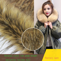 Natural color imitation braid hair fashion clothing fur collar artificial fur grass cap wool fabric
