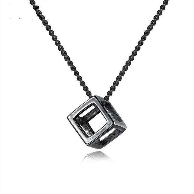 Фото модные ожерелья с полыми кубическими подвесками для женщин ювелирные цена