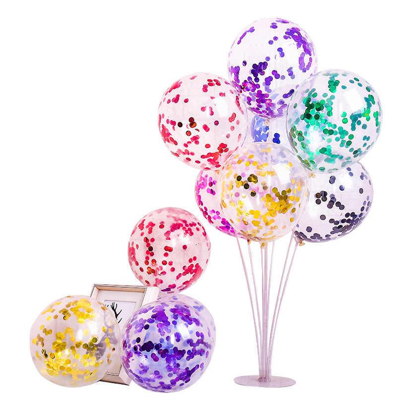 """12 """"Конфетти воздушные шары Прозрачные Шары вечерние украшения для свадебной вечеринки детские товары для дня рождения Воздушные шары игрушки"""