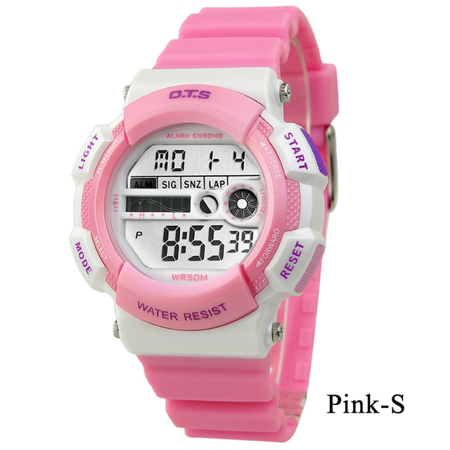 OTS Children s Fashion Watches For Girls Boys Student Waterproof Resistance Sports Analoy Digital Led Kid