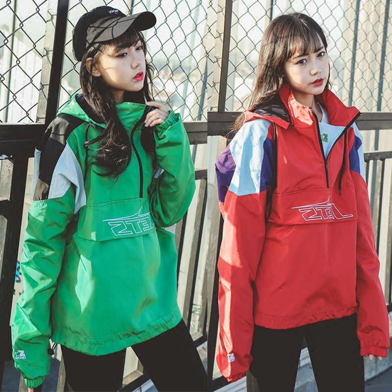 2018 fall sets of jackets female South Korea Gangfeng sweater college loose baseball jacket lovers