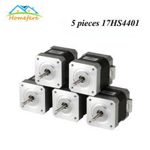 цена на 5 Pcs Nema17 Stepper Motor 42 motor Nema 17 Motor 42BYGH 1.7A 17HS2408 17HS4401 17HS8401 Stepper Motor 4-lead for 3D Printer