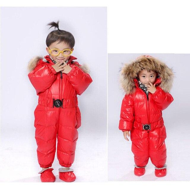 1b69ae6748fd Winter Warmer Down Jumpusit Babies Boys Girs Girls Rompers Suits ...