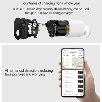 64 Gb Micro Sd Karte | Xiao Mi Smart Kamera 1080 P Mit Batterie Gateway 120 Grad IP 65 Wasserdichte AI Humanoiden Erkennung Arbeit Mit Mi Hause APP