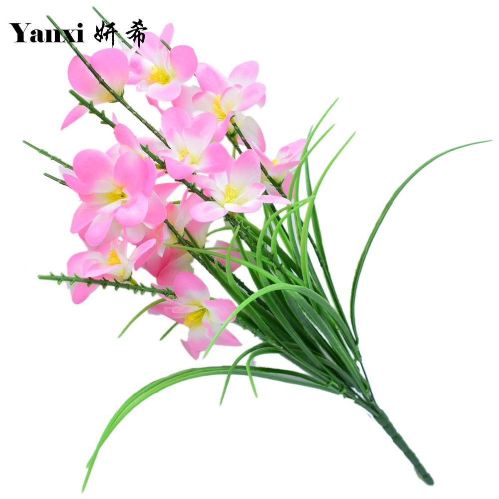 Online Shop Silk Orchid Artificial Flowers For Home Tabletop Garden