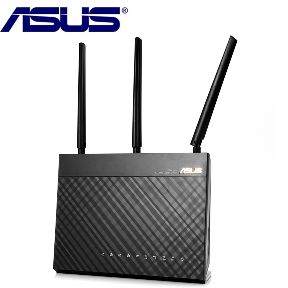 Original ASUS RT-AC68U AC Wireless Router 1000M 2.4GHz/5GHz Dual Band WiFi Repeater Support VPN Perfect 4 LAN Ports For Home support vpn f3124 industrial level gprs wifi router for solar generation monitoring kiosk