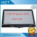 "Para hp spectre x360 13-4001nx 13.3 ""tela de toque digitador + display lcd led assembléia/painel 2560*1440"