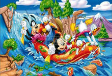 Christmas Sale - New Arrival Cartoon Mickey Mouse & Friends Water Skiing 5d Diy Diamond Painting Full 3d Square Drill  new
