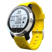 F69 Sport Smartwatch IP68 Wasserdicht Hintergrundbeleuchtung Touchscreen Bluetooth 4,0 Schwimmen Modus Dual-modus Pulsmesser Smart Uhr