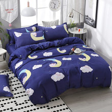 SJ 3/4pcs/Set Cartoon Blue Kids Bedding Set Boys Children Student Dormitory Bed Linen Linings Home Textile(China)