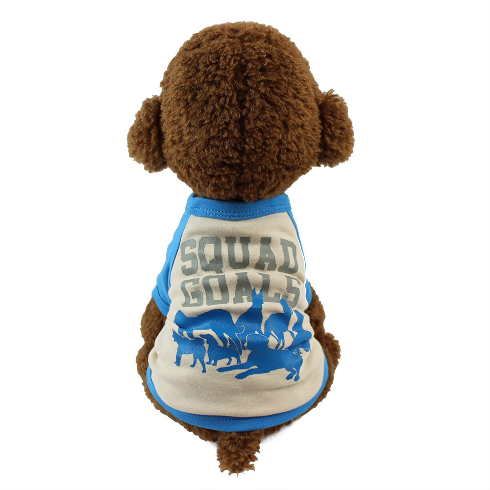 Small Dogs Costume Clothes For Little Dogs Overalls Cute Print T-shirt Pet Dog Cat Puppy ...
