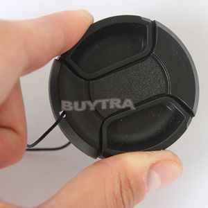 49mm Center Pinch Snap on Front Cap Cover For Sony Canon Nikon Lens Filter with Anti-lose Cord