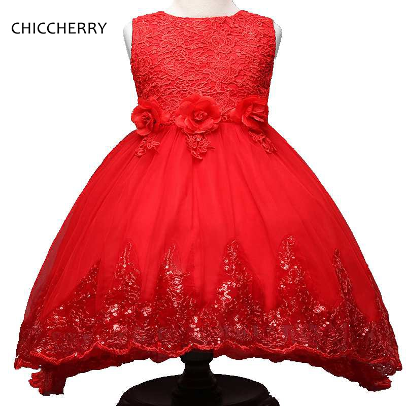 Elegant Lace Flower Chidlren Girl Dress Sequins Evening Party Dress 2018 New Year Costumes for Girls Vestido Menina Kids Clothes вечернее платье erose evening dress 2015 vestido evening dress ade 232