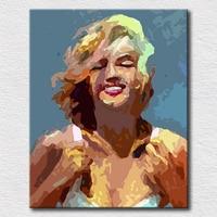ที่ดีเยี่ยมM Arilyn Monroeน้ำมันภาพวาดภาพผนังสำหรับห้องนอนมือทาสีผ้าใบศิลปะป๊อปสำหรับหญิงเพื่อน...