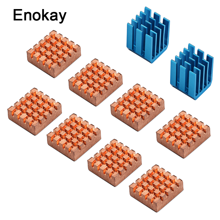 Water Cooler Enokay Computer Cpu Cooling Heatsink Set For Raspberry Pi 3,pi 2 Model B+ Of Heat Sinks Kit With For Adhesive 2200rpm cpu quiet fan cooler cooling heatsink for intel lga775 1155 amd am2 3 l059 new hot