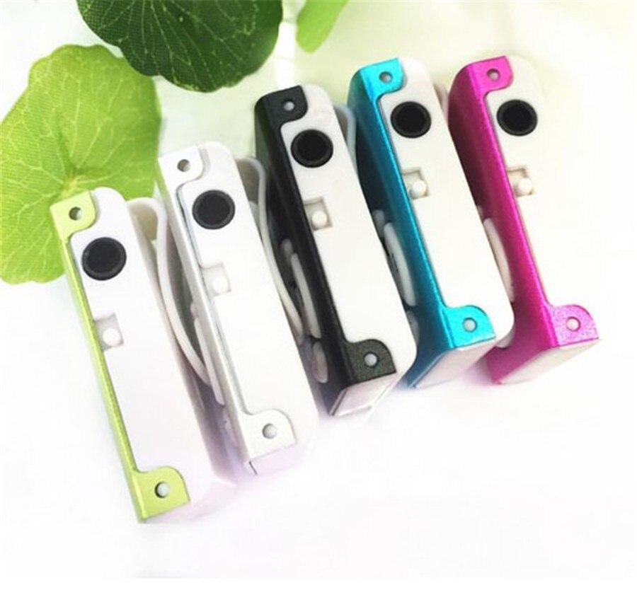 מיני קליפ נגן mp3 ספורט חריץ נגן mp3 קורא כרטיסי זיכרון עם חריץ כרטיס TF MP3+USB+אוזניות+קריסטל קופסה