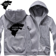 ectic free shipping WINTER IS COMING STARK Game of Thrones Winterfell wolf blood Direwolf man cardigan