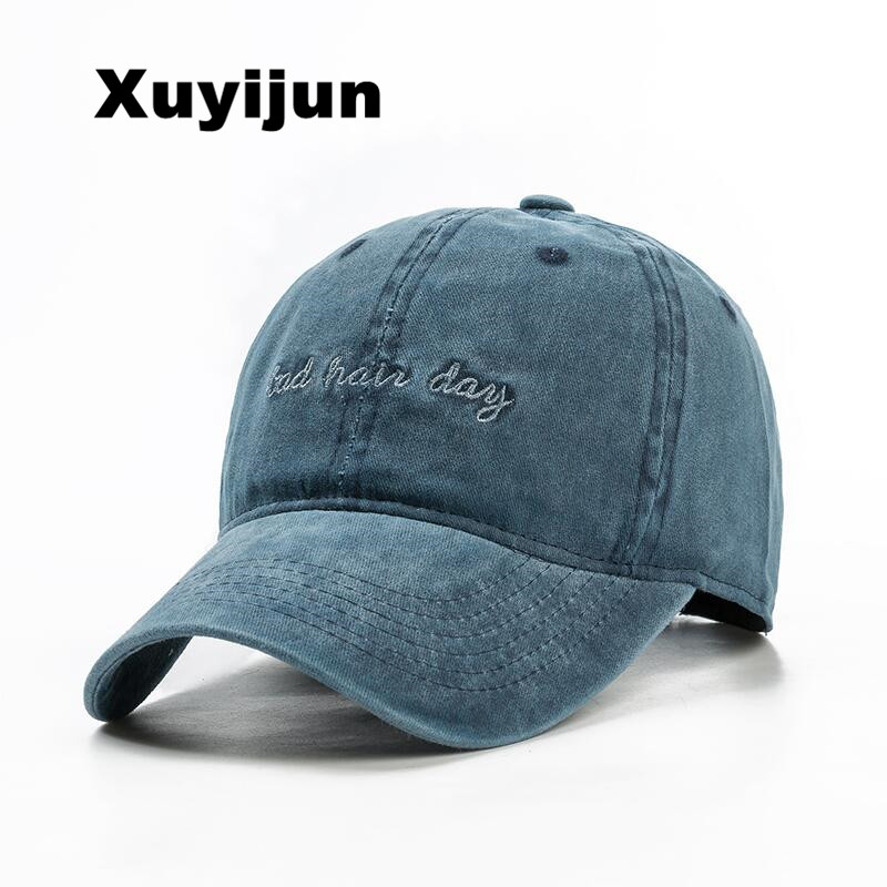 XUYIJUN 2017 Cotton Embroidery Letter Baseball Cap Snapback Cap Bone Distressed Hat Style Port Hat For Men Custom hats dad cap [flb] wholesale brand hat cap warm thickened cotton baseball cap bone snapback dad cap women knitted hat fitted hats for men