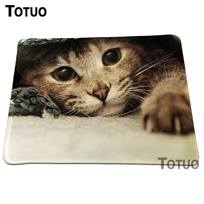 New Arrival Cat Print Gaming Mousepad Durable Anti-slip Desktop Computer Mouse Pad For L ...