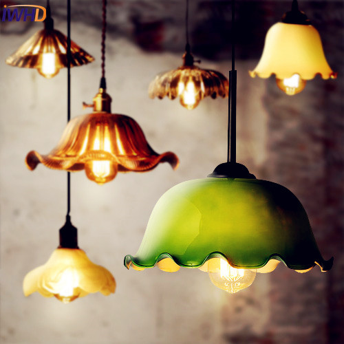 IWHD Ameican Glass Industrial Pendant lighting Dinning Room Edison Loft Vintage Lamp Retro Hanging Lights Luminaire retro loft style industrial vintage pendant lights hanging lamps edison pendant lamp for dinning room bar cafe