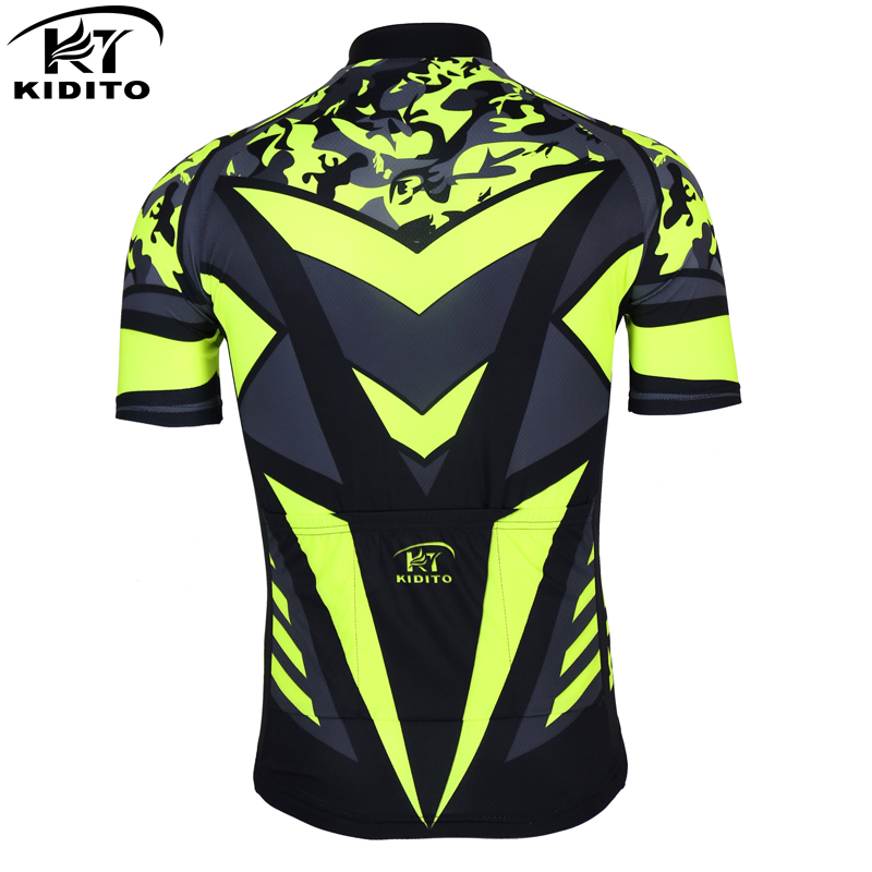 202876884 KIDITOKT Flour Yellow Pro Cycling Jersey Summer Quick Dry Bicycle Clothes  Mountian Bike Wear Cycling Bicycle Clothing-in Cycling Jerseys from Sports  ...