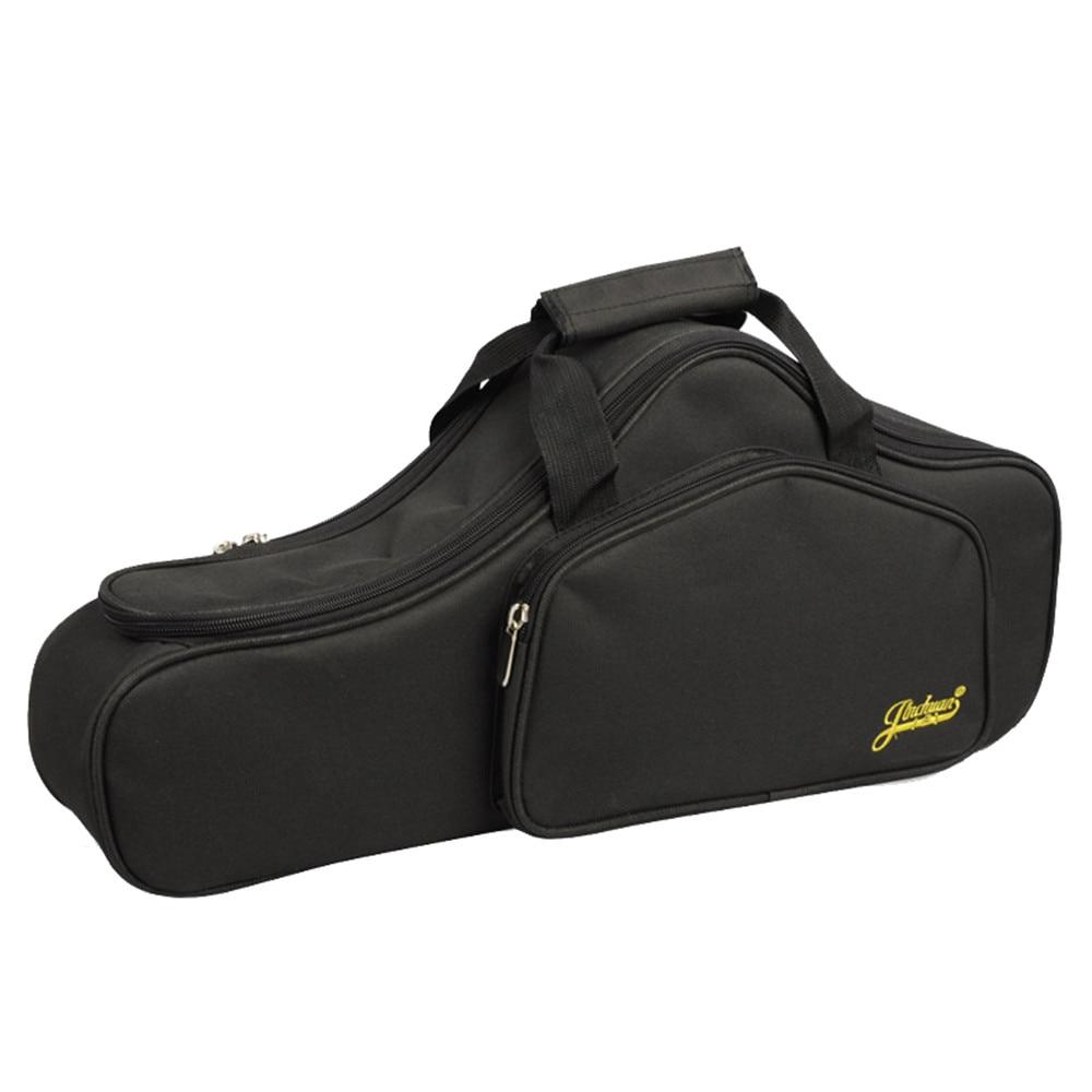 ポータブル耐水性アルトサックスサックスバッグケース 15 ミリメートル厚みのパッド入りダブルジッパー調節可能なショルダーストラップポケット  グループ上の スーツケース & バッグ からの 楽器バッグ & ケース の中 2