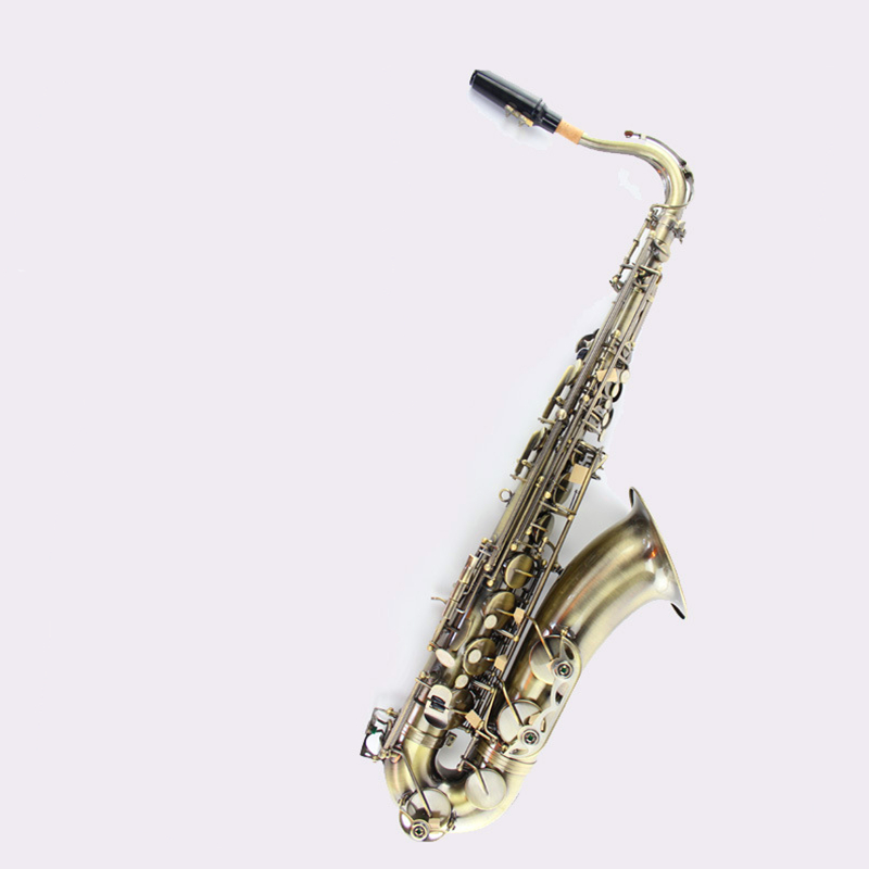 Tenor sax Saxophone Bb antique brass surface Wind Instrument  Sax Western Instruments saxofone Musical Instruments saxophone tenor saxophone free shipping selmer instrument saxophone wire drawing bronze copper 54 professional b mouthpiece sax saxophone