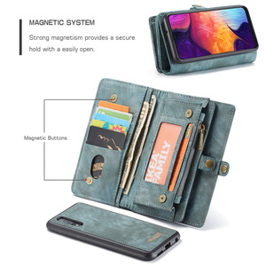 Image 4 - For Samsung Galaxy A20 A30 A50 Case Luxury Genuine Flip Wallet Leather Cover Mobile Phone Back Case For Samsung A40 A70 A50