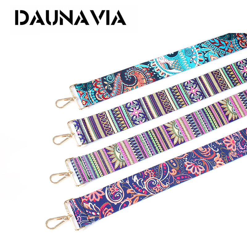 DAUNAVIA 2018 New Arrive Fashion Women Bag Shoulder Strap colorful Style Shoulder Straps Elegant Lengthened Shoulder Straps 2018 new handbags strap classic design embroidery gold buckle canvas bag straps new trendy easy holding shoulder straps qn203