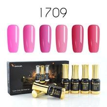 VENALISA Juego de geles para pulido de uñas, 12ml, para salón de manicura, Gel de LED UV lacado, esmalte de uñas de larga duración
