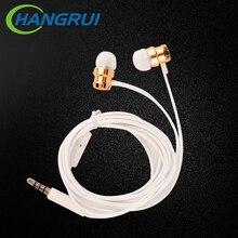 HANGRUI Turbo In Ear Earphones Metal Worm Gear Bass Stereo Headset Portable fone de ouvido with
