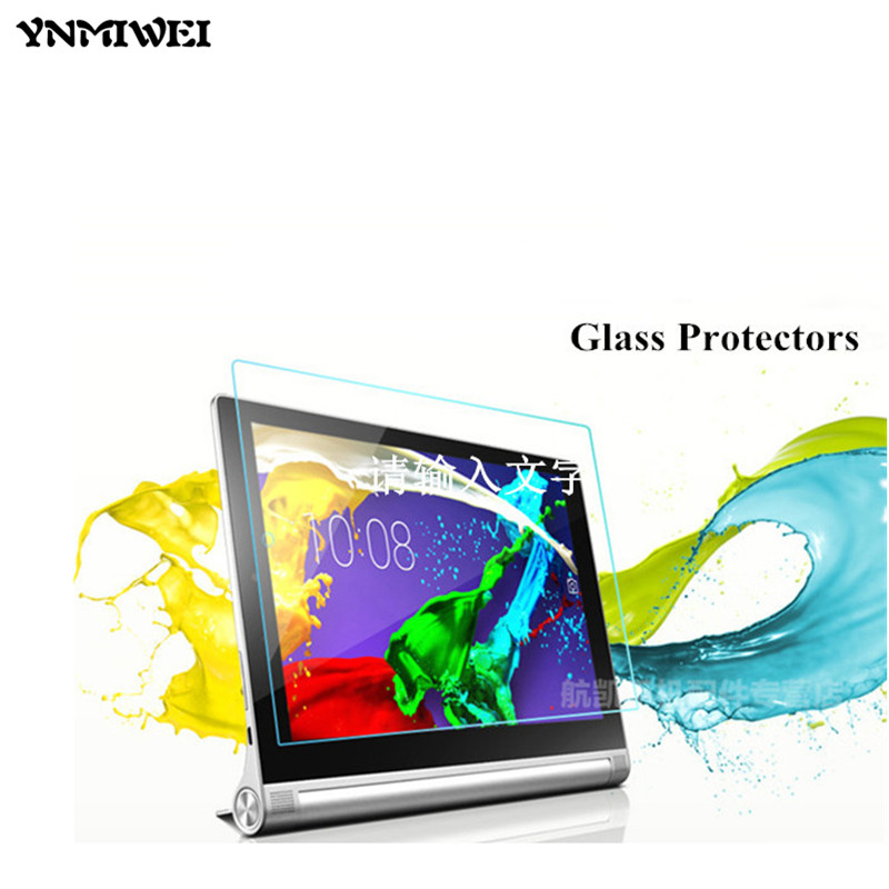 Tablet YOGA 2 1050F Glass Screen Protectors For lenovo yoga tablet 2 10 1050F 1050 1051F 1050L 10.1 tablet screen protector original 10 1inch lcd screen for yoga2 tablet2 1050f lc 1051f 10 tablet pc free shipping
